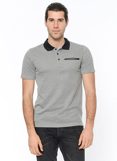 Jack & Jones Polo Yaka Tişört Gri